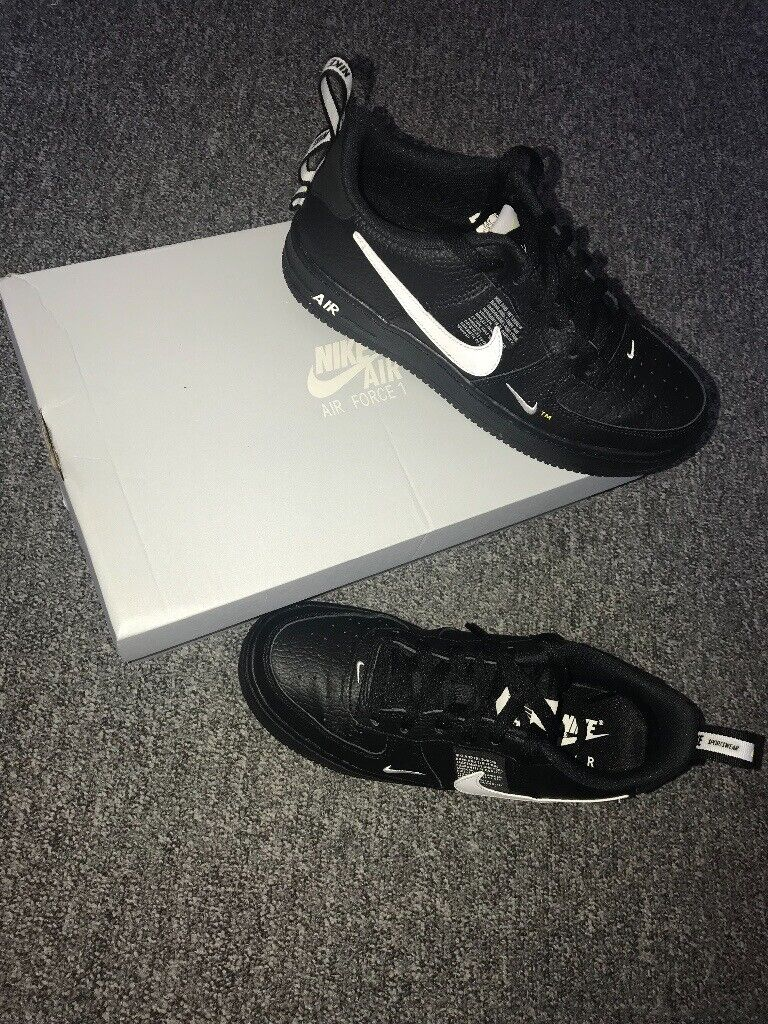 meet 3d514 3db18 Nike Air Force 1  07 LV8 Utility Black Trainers UK Size 5 Brand New Never  Worn