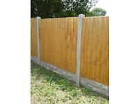 1 fence panel, 1 gravel board ,1 end post, NEW