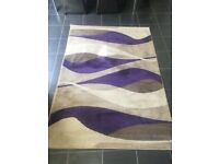 RUG FOR SALE-SIZE 120CM X 160 CM-LIKE NEW-RRP £60