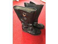 Ladies Leather Motorbike Boots