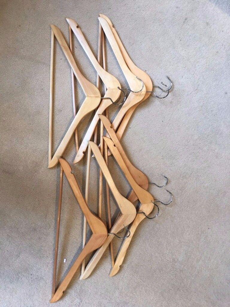 8 Wooden Hangers