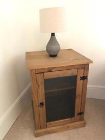 Corona Pine Glass Front Cabinet