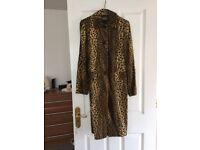 Karen millen leopard pony fur coat
