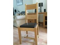Halo solid oak dining chairs x 8 - excellent condition