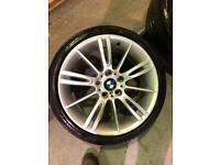 "Bmw 3 series m sport alloy wheels 18"" inch set of 5"