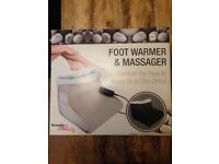 Brand new foot warmer and massager with adaptor and hand control