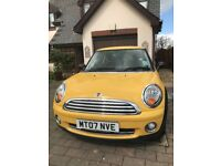 Yellow MINI ONE HATCHBACK 2007