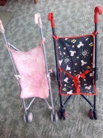 Childrens dolls pushchairs