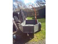 8x4 single axle trailor with 250 kg crane