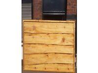 Heavy duty waney lap fencing panels