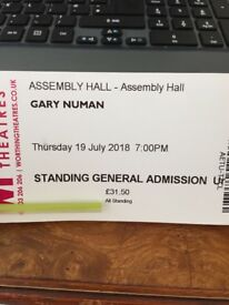 Gary Numan ticket