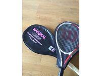 Tennis rackets plus 3 tennis balls 20£