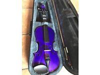 Rainbow Fantasia Purple Violin 3/4