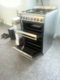 SMEG model SUK62MFX5 Double oven gas electric with electronic programmer excellent condition