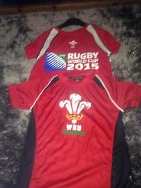 Welsh rugby shirts both for £5