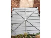 Scrap metal garage door free