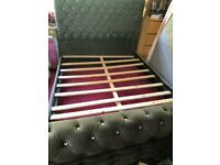 Chesterfield bed base super king