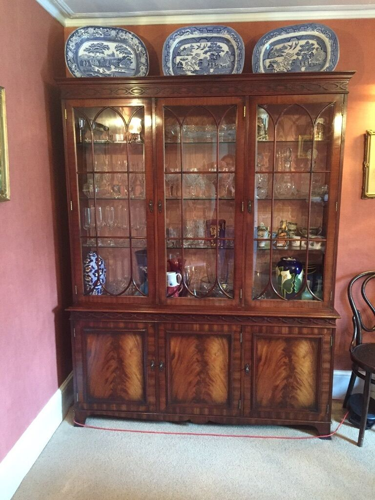 charles barr - dining room set- table, chairs & cabinet bought