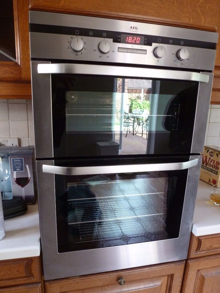 Aeg competence double oven fan and grill in great baddow for Aeg ofen