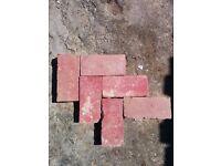 Reclaimed Victorian Hand Made Red Clay Pavers / Paviors / Paviours / Bricks