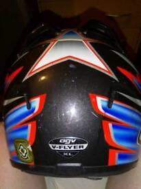 Agv helmet xl with blue iridium visor