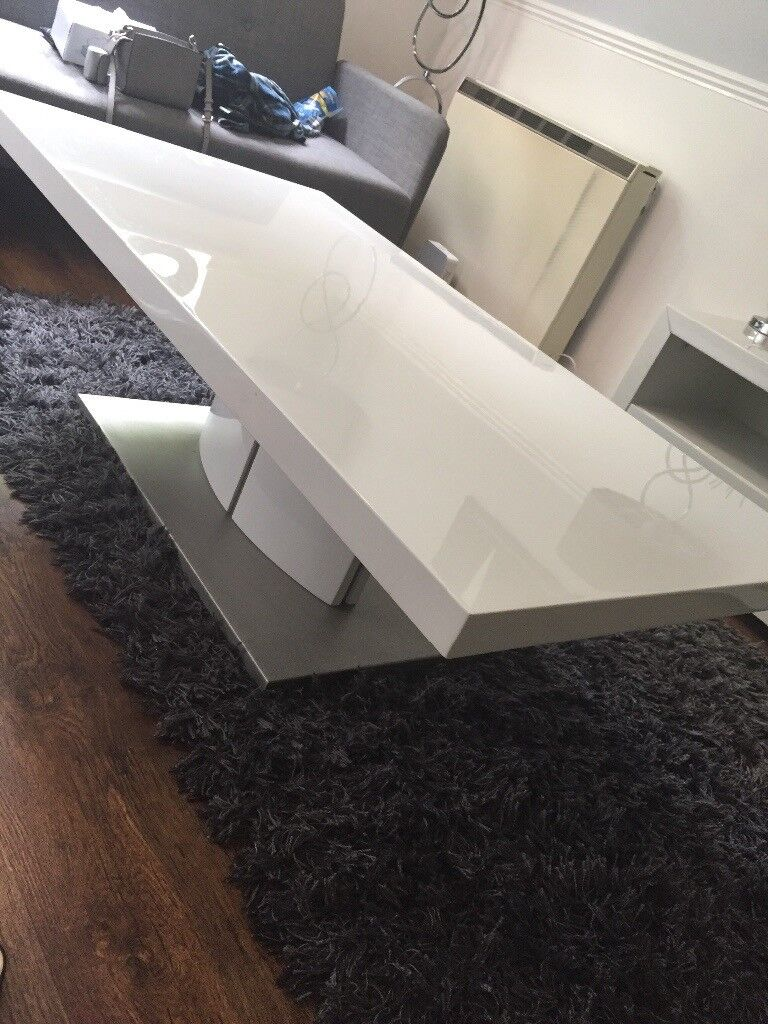 Furniture Village Grande High White Gloss Coffee Table In Enfield London Gumtree