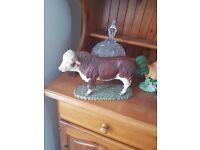 5 bull animal ornaments