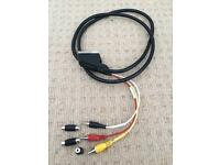 Scart to AV cable with male-female adapters