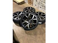 """Brand new set of 19"""" alloy wheels and tyres Vw Audi Seat"""