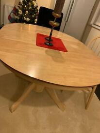 Dining table like colour with 6 matching chairs