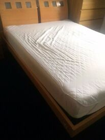 King size bed with frame and memory foam mattress