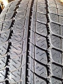 """4 x 17"""" SNOW TYRES FROM VW GOLF"""