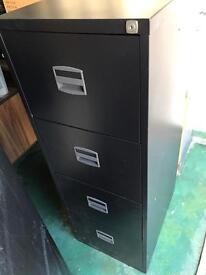 2 X Steel 4 drawer filing cabinets with locks