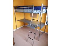 High Sleeper Bed/Bunk Bed with Large Desk