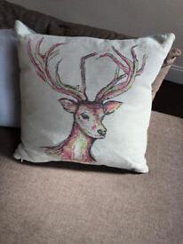 Stag head cushion