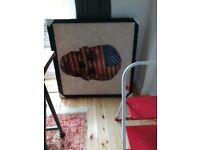 Framed skull design canvas