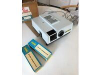 GNOME SURPREME IQ 7018 AUTO SLIDE PROJECTOR 1:2.8 85MM LENS +EXTRAS