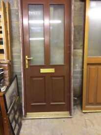 Mahogany door and frame