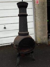 Chiminea, heavy and needs a little tlc