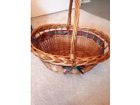 Wicker basket ideal for cookery class, picnic, shopping etc