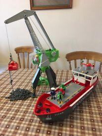 Playmobil Harbour Sets 4470 & 4472 Crane & Cargo Ship