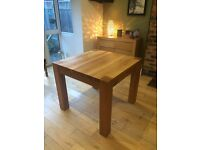 Solid oak table (Barker and Stonehouse) 1 metre square