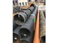 5m 375mm twin wall drainage pipe surplus material