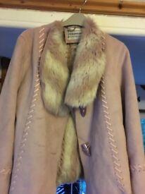 Chamonix pink fluffy jacket