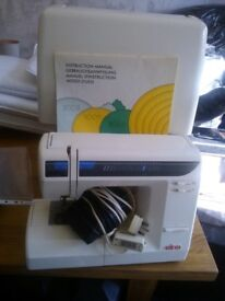 ELNA 3005 SEWING MACHINE WITH CASE & MANUAL - ONLY USED ONCE