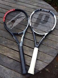 Pair of quality tennis rackets