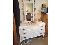 Beautiful vintage dressing table - shabby chic but classic with farrow and ball paint
