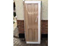 Oak four panelled door