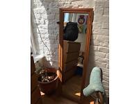 Full length wooden mirror