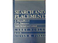 Search And Placement! A Handbook For Success Revised and Updated 2012 Finkel